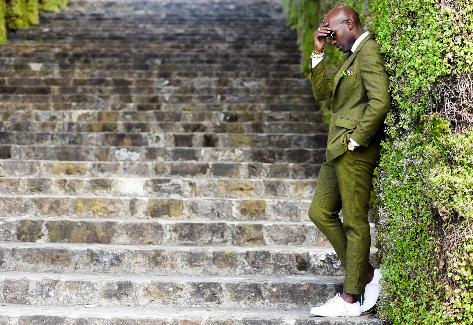 Geoff K. Cooper photographed by Adrian Richards at Pitti Uomo (in Firenze, Florence)