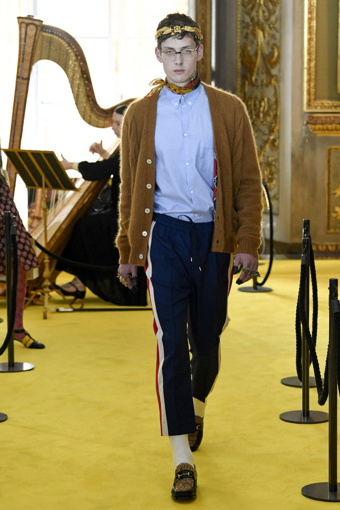 Look 101 - Gucci Resort (Cruise) 2018 Fashion Show at the Palatina Gallery in Florence's Pitti Palace in Italy.