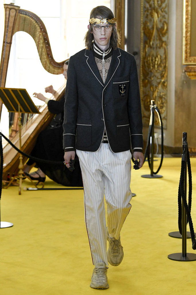 Look 103 - Gucci Resort (Cruise) 2018 Fashion Show at the Palatina Gallery in Florence's Pitti Palace in Italy.