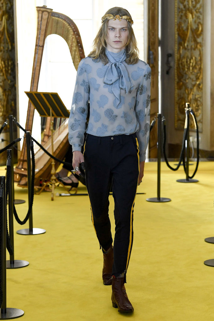 Look 107 - Gucci Resort (Cruise) 2018 Fashion Show at the Palatina Gallery in Florence's Pitti Palace in Italy.