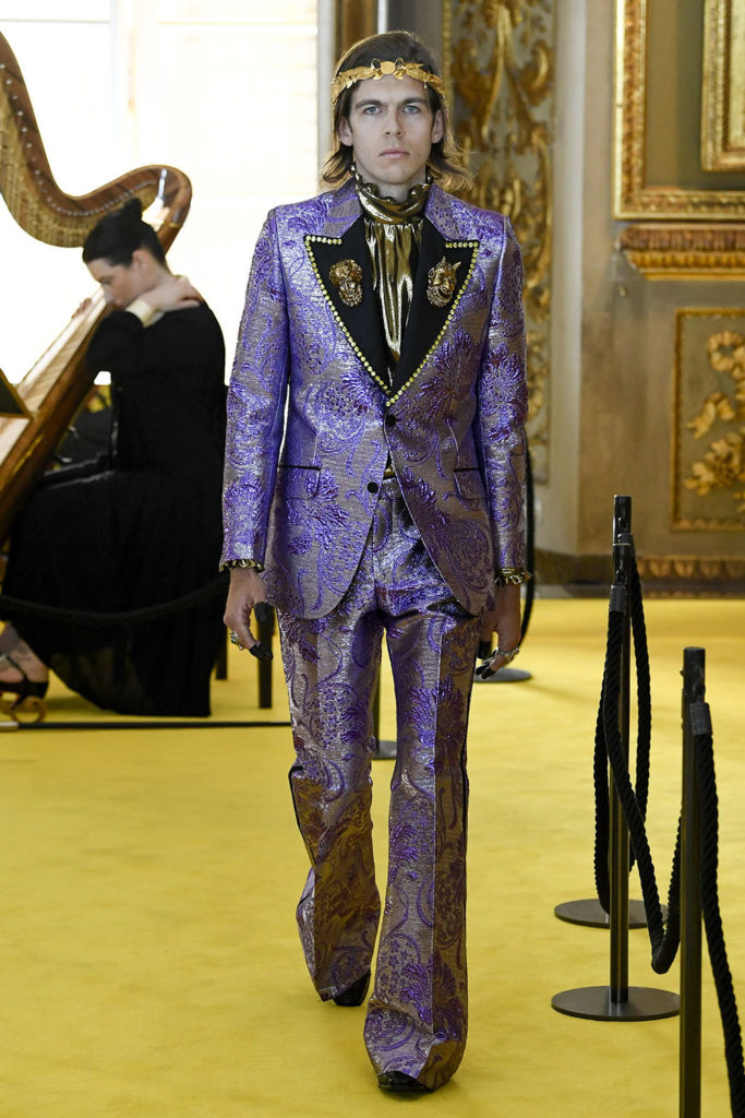 Look 111 - Gucci Resort (Cruise) 2018 Fashion Show at the Palatina Gallery in Florence's Pitti Palace in Italy.