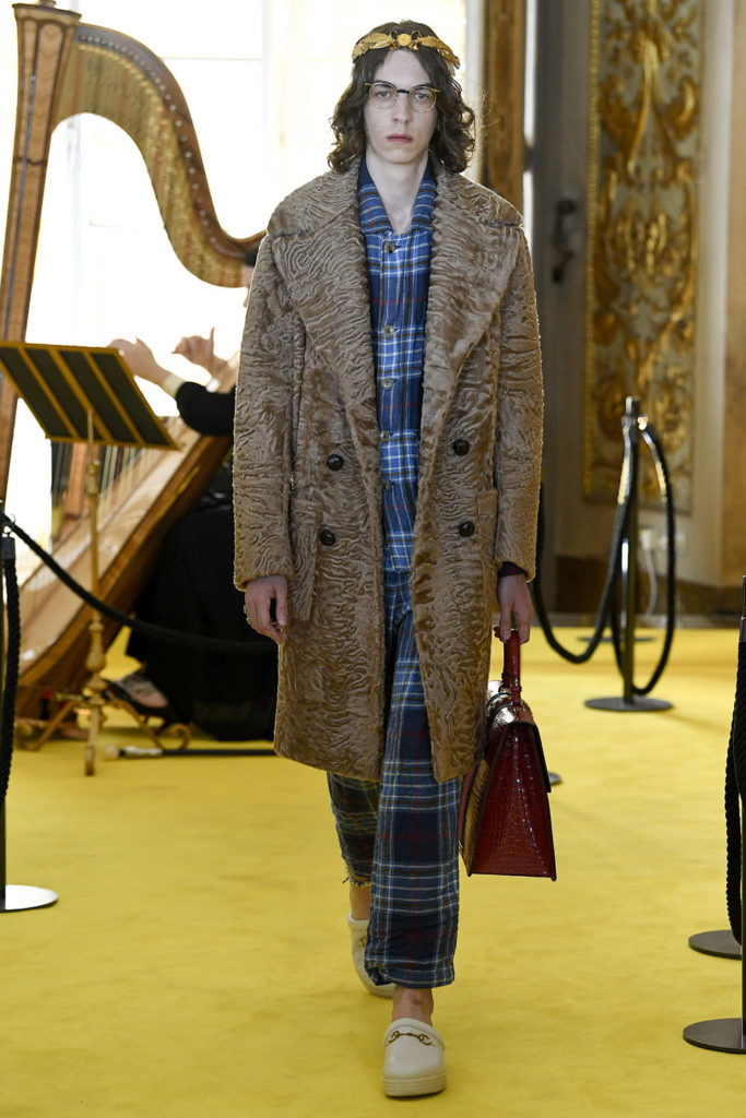 Look 14 - Gucci Resort (Cruise) 2018 Fashion Show at the Palatina Gallery in Florence's Pitti Palace in Italy.