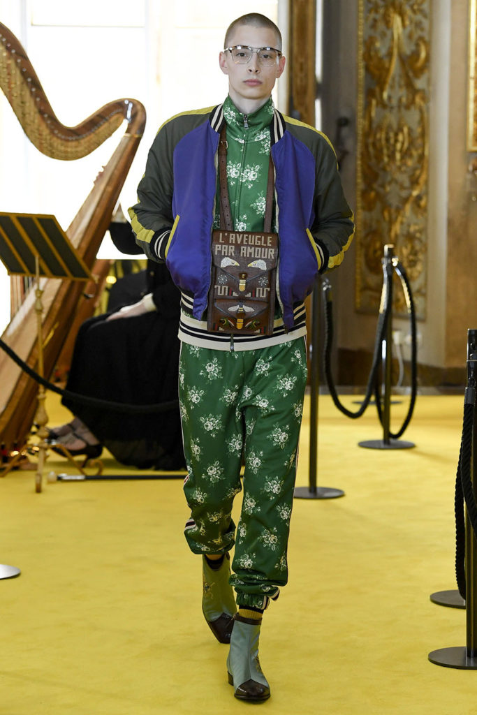 Look 48 – Gucci Resort (Cruise) 2018 Fashion Show at the Palatina Gallery in Florence's Pitti Palace in Italy.
