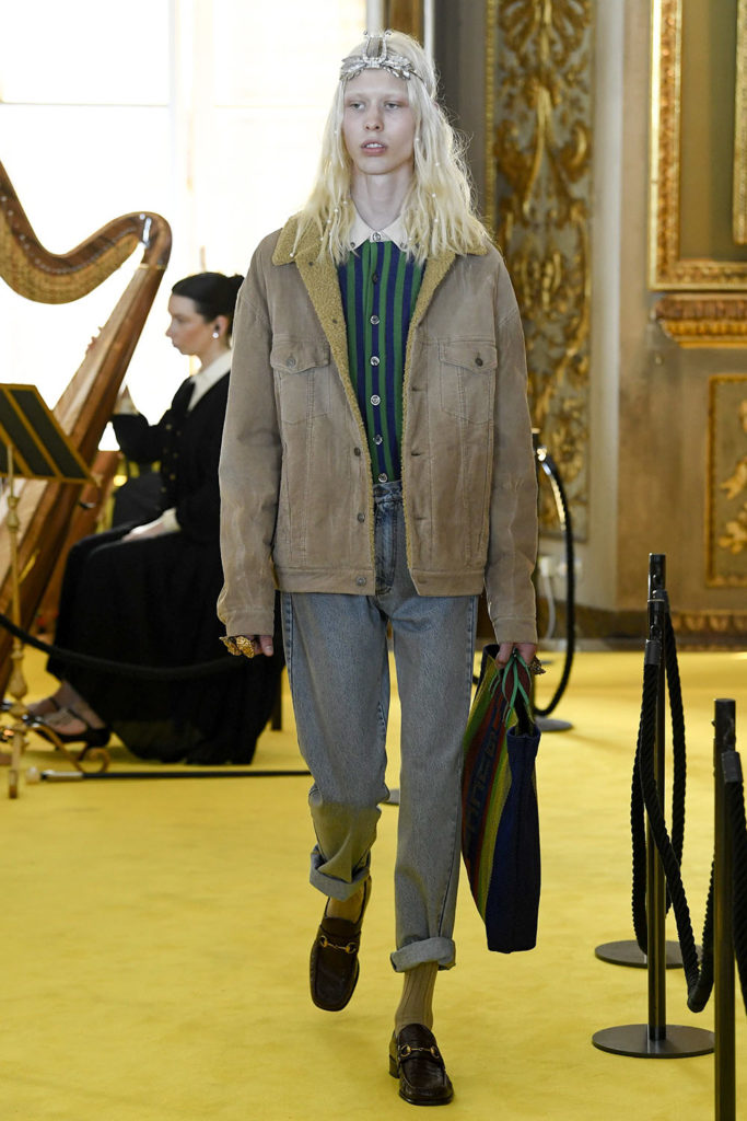 Look 51 – Gucci Resort (Cruise) 2018 Fashion Show at the Palatina Gallery in Florence's Pitti Palace in Italy.