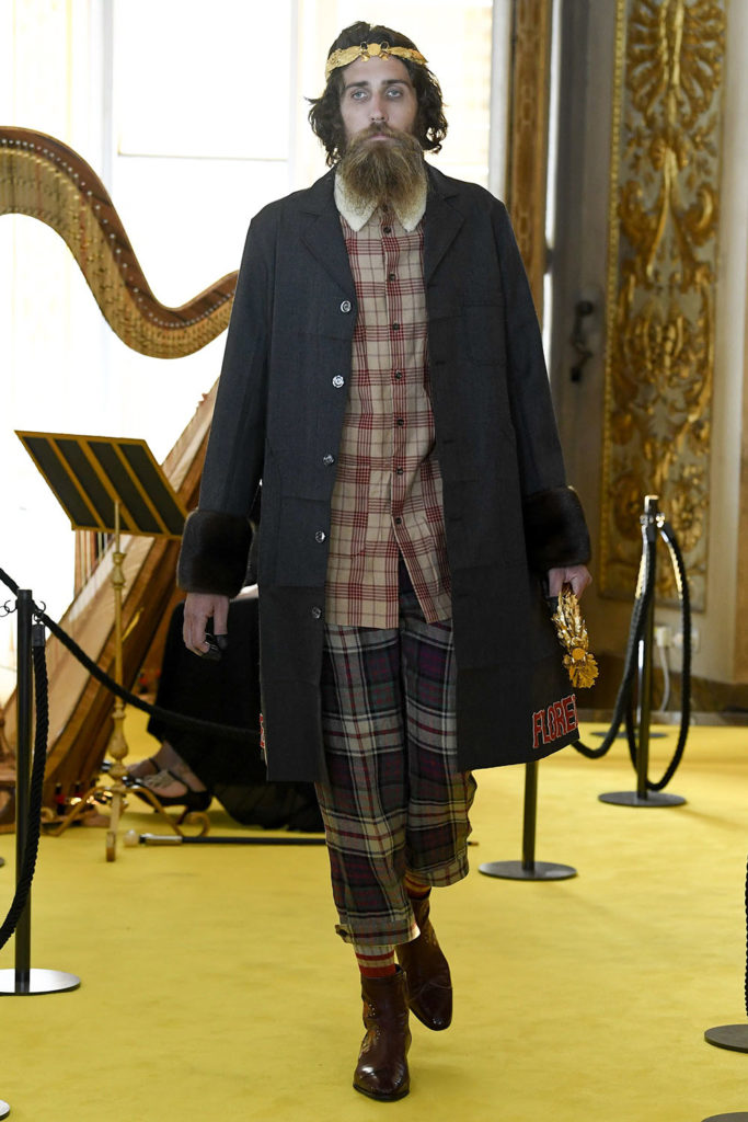 Look 53 – Gucci Resort (Cruise) 2018 Fashion Show at the Palatina Gallery in Florence's Pitti Palace in Italy.