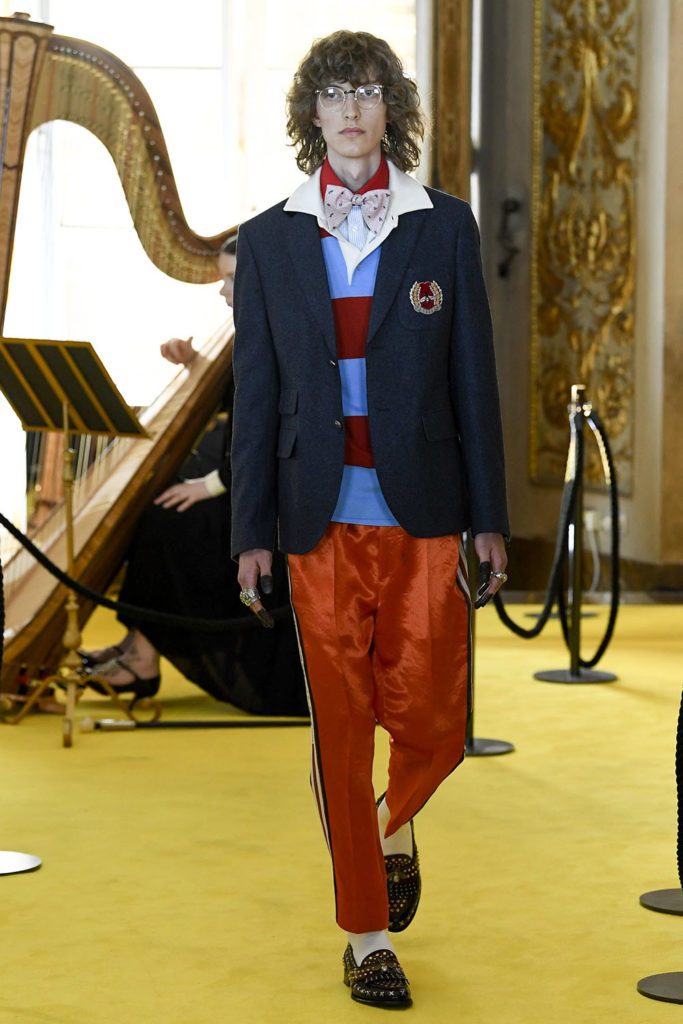 Look 81 - Gucci Resort (Cruise) 2018 Fashion Show at the Palatina Gallery in Florence's Pitti Palace in Italy.