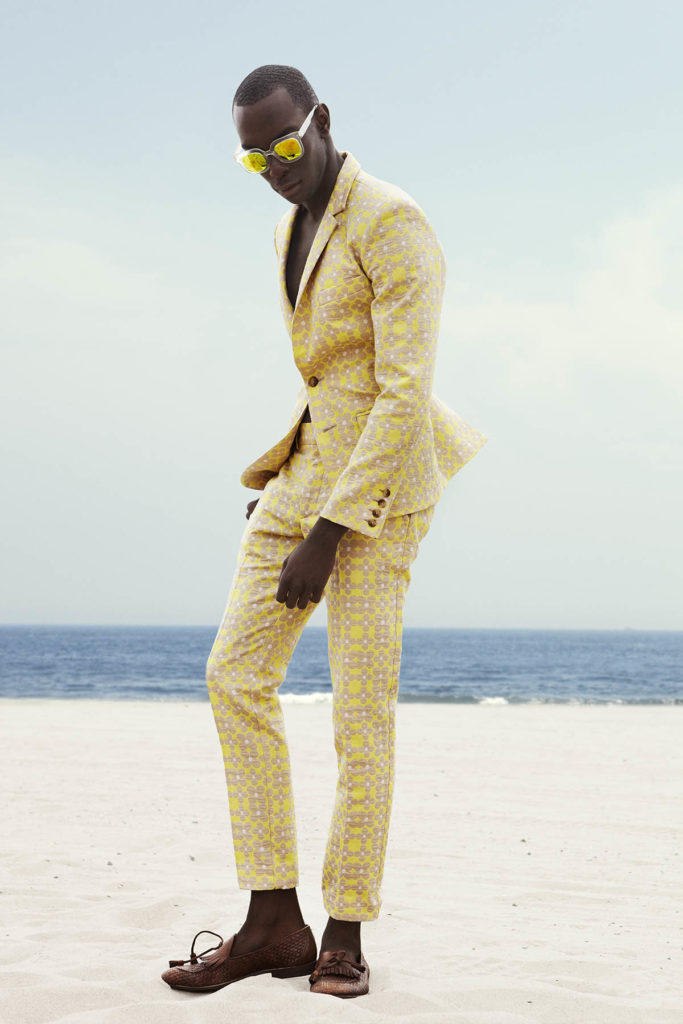 John Thelusca photographed by Skye Tan for Sagaboi (Men's suit story). Styled by Geoff K. Cooper and Jacob Rabago