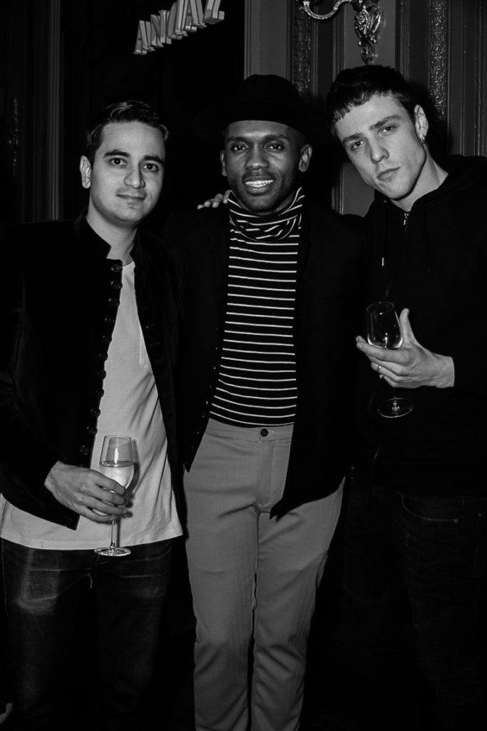 Abhishek Advani, Advani London, Geoff Cooper at the Sagaboi drinks party during LFWM held at the Andaz Hotel, Liverpool Street.