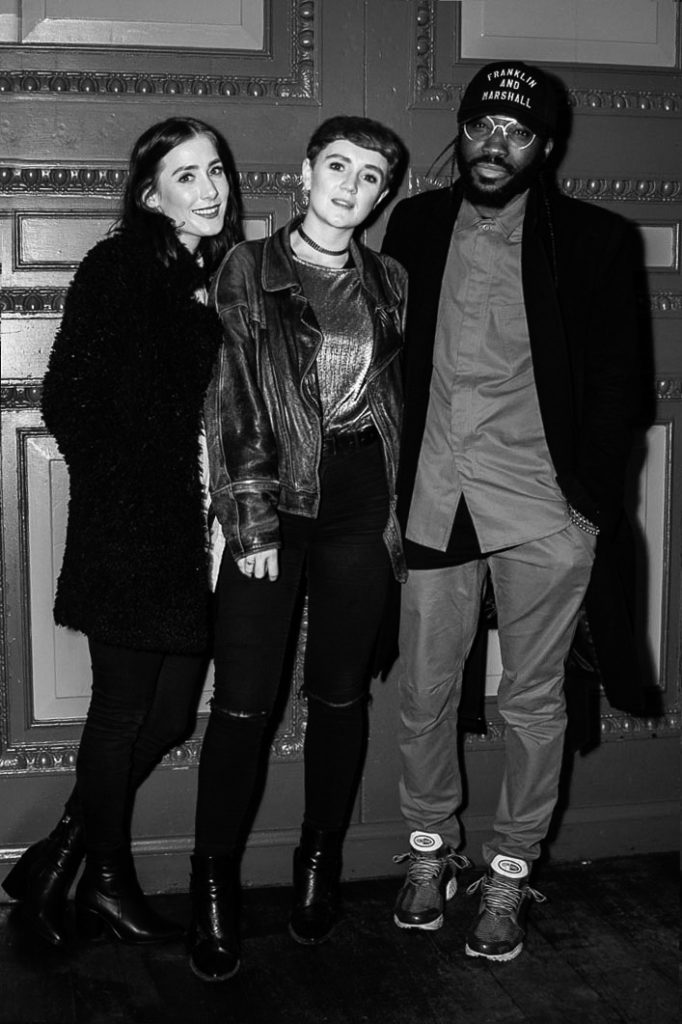 Guests and Charley Van Purpz at the Sagaboi drinks party during LFWM held at the Andaz Hotel, Liverpool Street.