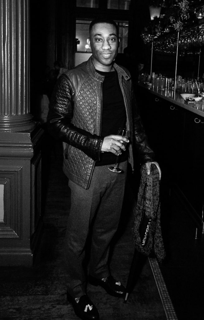 Gus Frankyln-Bute at the Sagaboi drinks party during LFWM held at the Andaz Hotel, Liverpool Street.