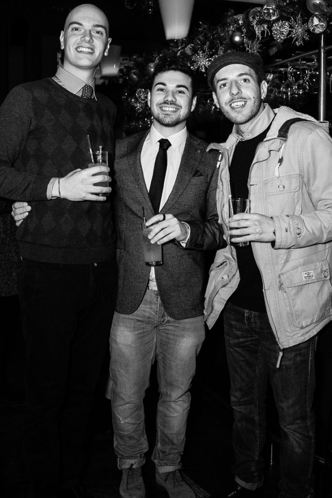 Photos of guests at the Sagaboi drinks party during LFWM held at the Andaz Hotel, Liverpool Street.