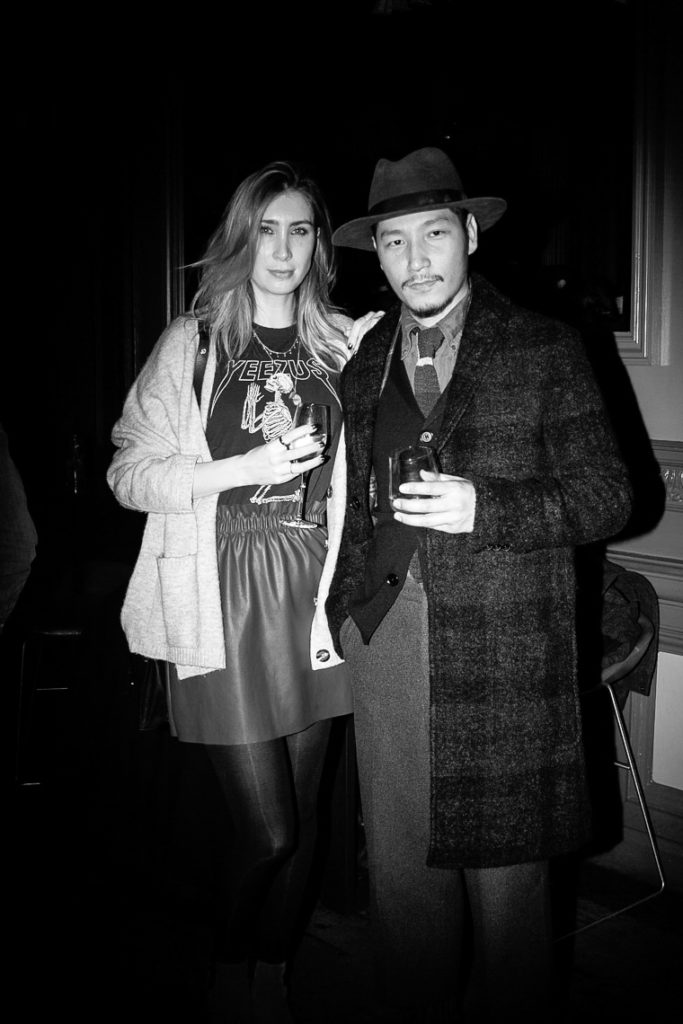 Eshan Kali and Guest at the Sagaboi drinks party during LFWM held at the Andaz Hotel, Liverpool Street.