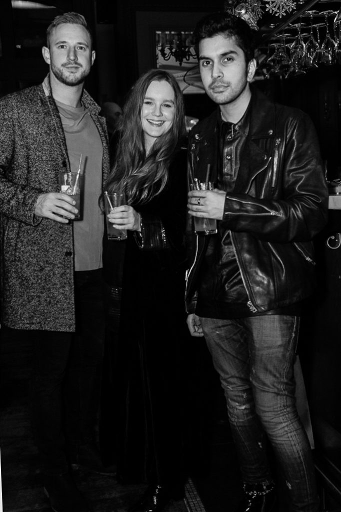 Harriet Charnock-Bates and guests at the Sagaboi drinks party during LFWM held at the Andaz Hotel, Liverpool Street.