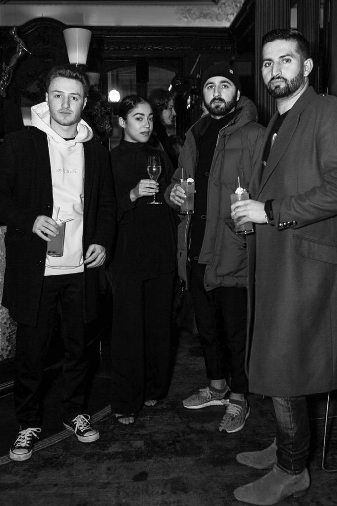 Hywell Jenkins, Eff Ulloa, guests at the Sagaboi drinks party during LFWM held at the Andaz Hotel, Liverpool Street.