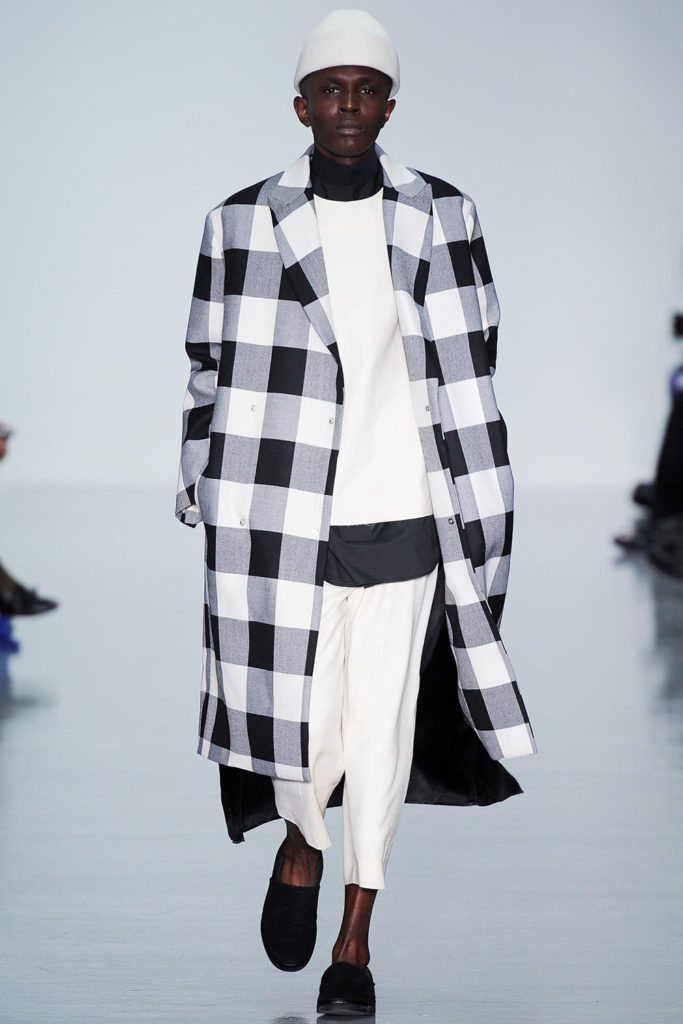 Model for Agi and Sam AW14 men's fashion show at London Fashion Week Men's (LFWM)