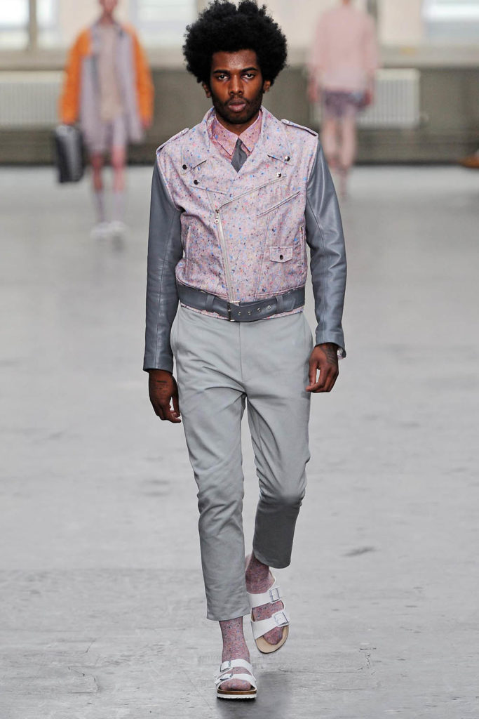 Model for Agi and Sam SS13 men's fashion show at London Fashion Week Men's (LFWM)