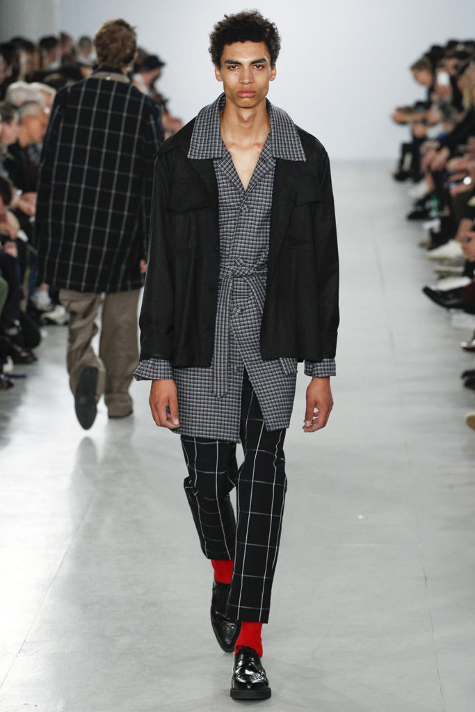 Sol Gos modeling for Agi and Sam SS17 men's fashion show at London Fashion Week Men's (LFWM)