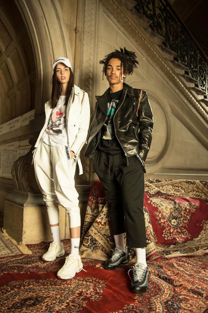 Les Benjamins (by Bunyamin Aydin) SS18 men's fashion collection at Paris Fashion Week (PFW/PMFW). Luka Sabbat and Adriana Mora photographed by Dylan Don and styled by Robert Rabensteiner.