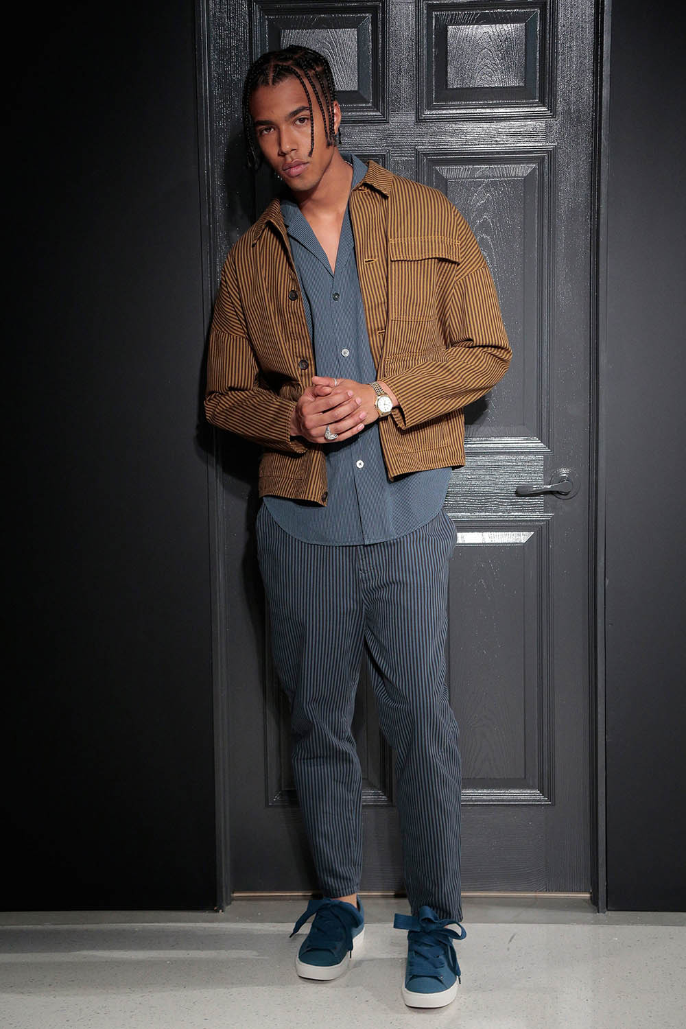 Gustav von Aschenbach SS18 Collection. Male model at the Gustav
