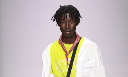 Ovadia and Sons SS18 Collection. Male model walking the catwalk at the Ovadia & Sons SS18 men's fashion show at New York Fashion Week Men's (NYFWM)