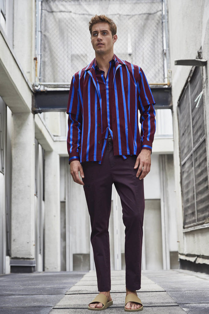 Perry Ellis New York Fashion Week Men's Spring Summer 2018 - Sagaboi - Look 11