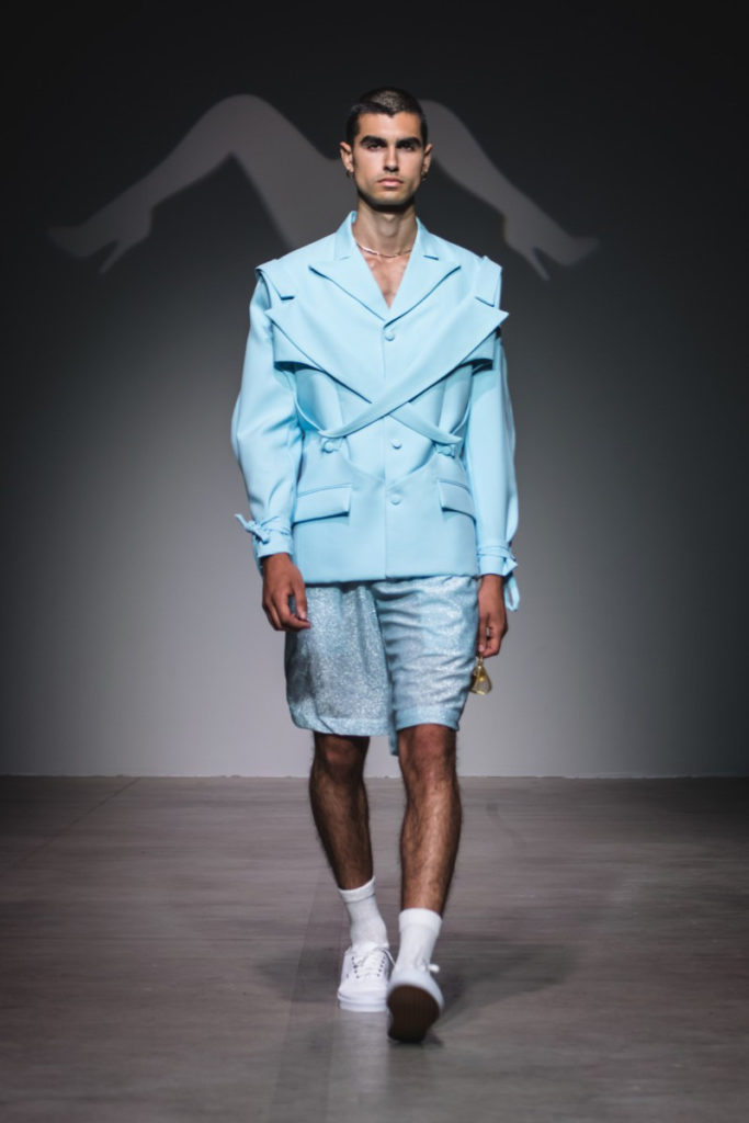 Sanchez-Kane New York Fashion Week Men's Spring Summer 2018 - Sagaboi - Look 1