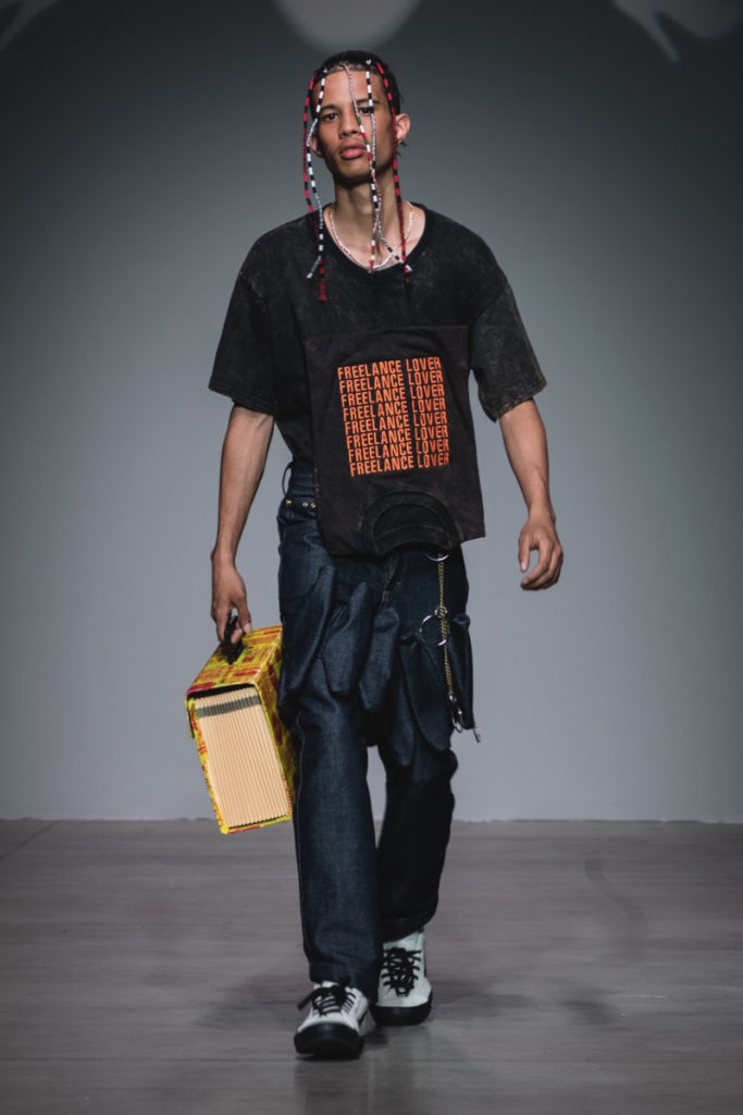Sanchez-Kane New York Fashion Week Men's Spring Summer 2018 - Sagaboi - Look 10