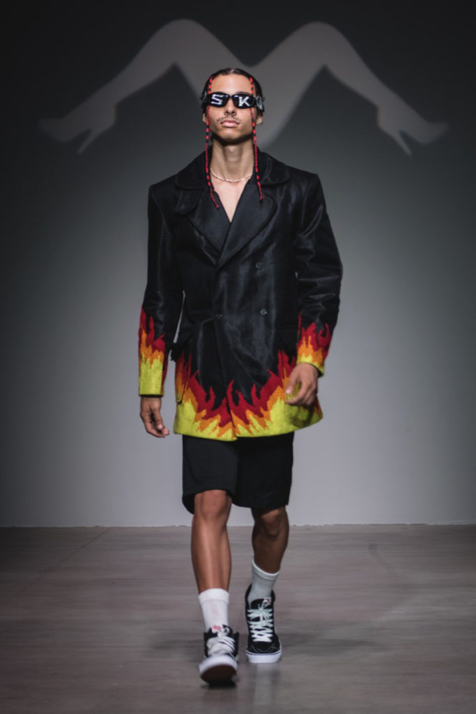 Sanchez-Kane New York Fashion Week Men's Spring Summer 2018 - Sagaboi - Look 2