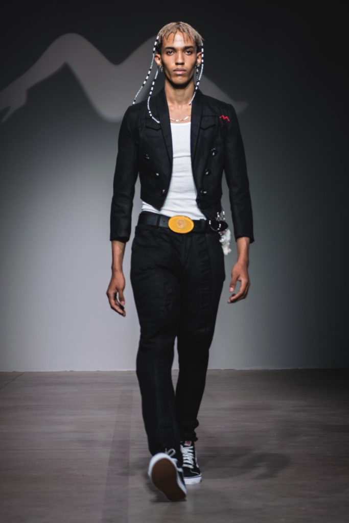 Sanchez-Kane New York Fashion Week Men's Spring Summer 2018 - Sagaboi - Look 3