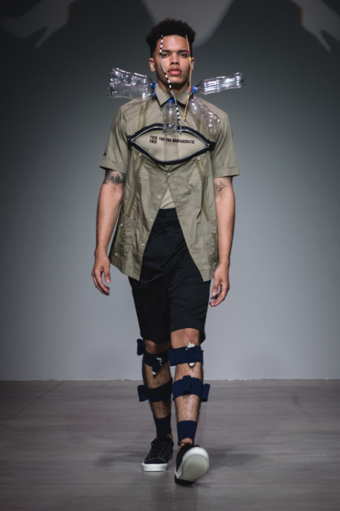 Sanchez-Kane New York Fashion Week Men's Spring Summer 2018 - Sagaboi - Look 8
