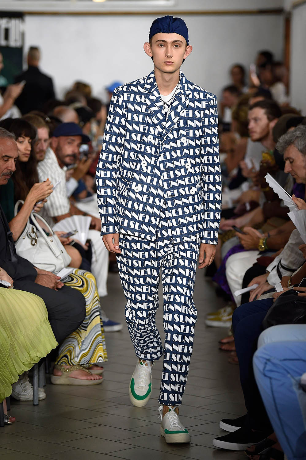 Model walking the catwalk at Sunnei SS18 men's fashion show at M