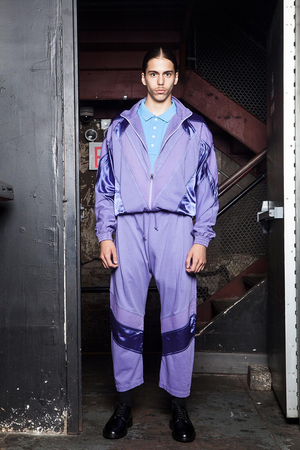 Willy Chavarria SS18 Collection. Male model at the SS18 men's fa