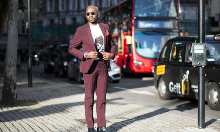 Geoff K. Cooper (Street Style Look) photographed by Chiara Marina Grioni, wearing Moss Bros and Pagara London