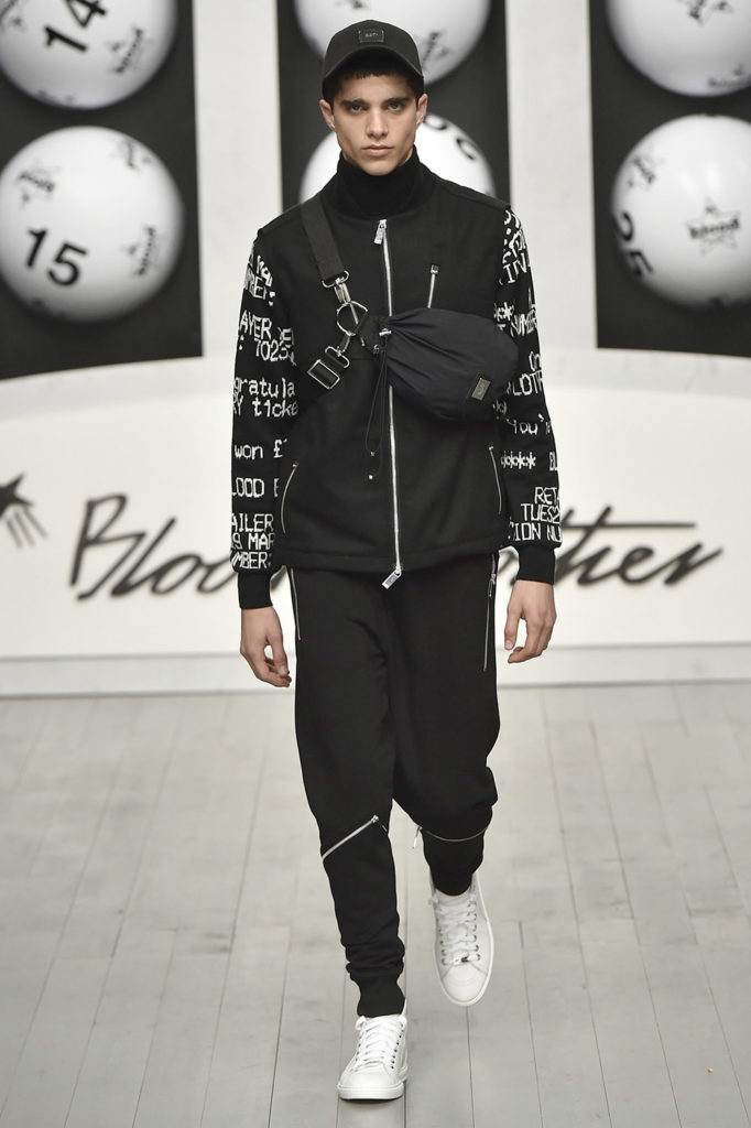 Blood Brothers London Fashion Week Men's Fall Winter 2018 - Sagaboi - Look 19