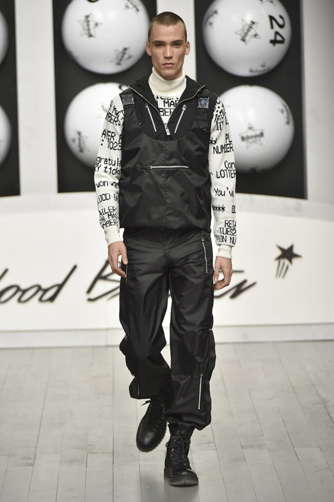 Blood Brothers London Fashion Week Men's Fall Winter 2018 - Sagaboi - Look 25