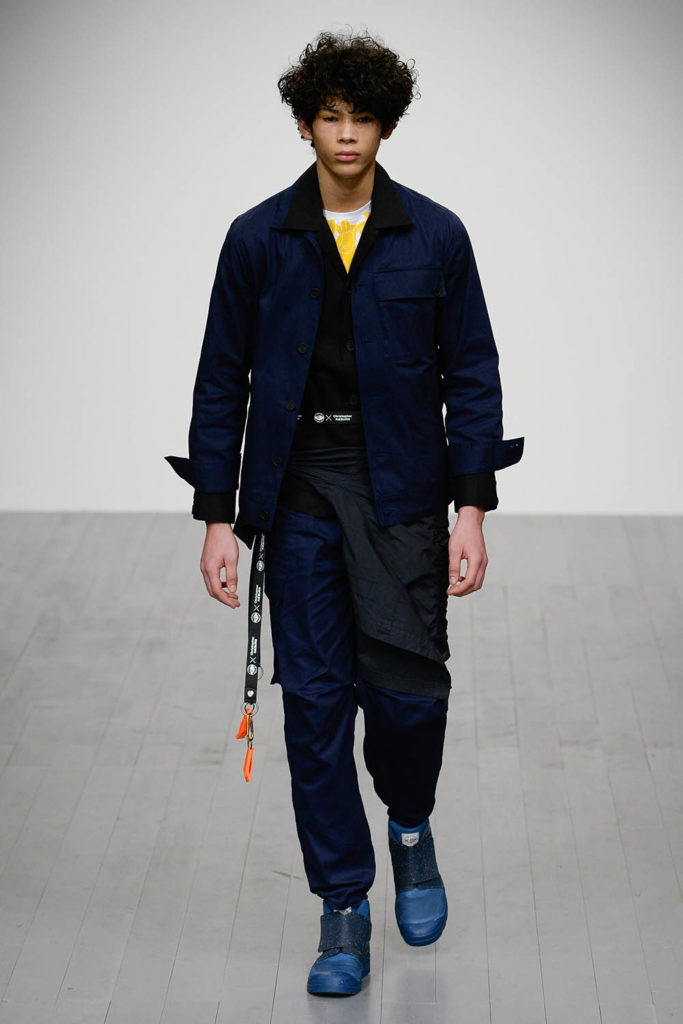 Christopher Raeburn London Fashion Week Men's Fall Winter 2018 - Sagaboi - Look 12