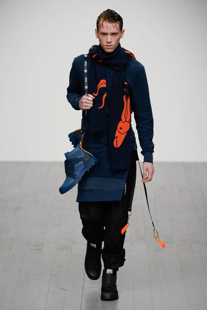 Christopher Raeburn London Fashion Week Men's Fall Winter 2018 - Sagaboi - Look 13
