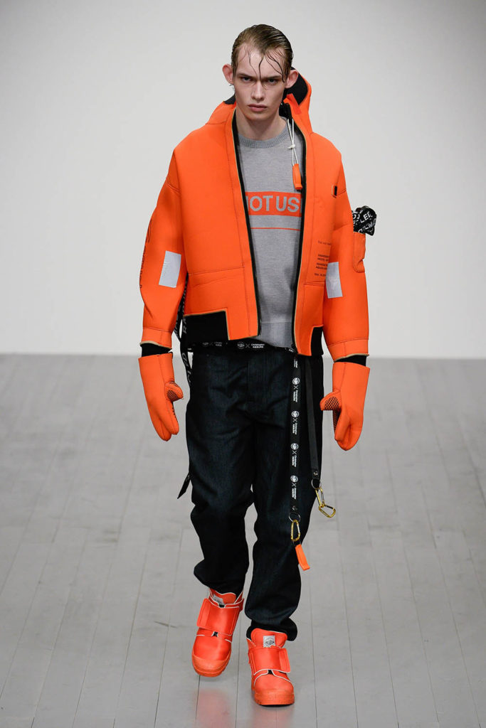 Christopher Raeburn London Fashion Week Men's Fall Winter 2018 - Sagaboi - Look 14