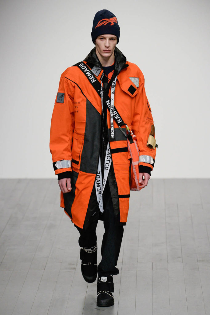 Christopher Raeburn London Fashion Week Men's Fall Winter 2018 - Sagaboi - Look 27
