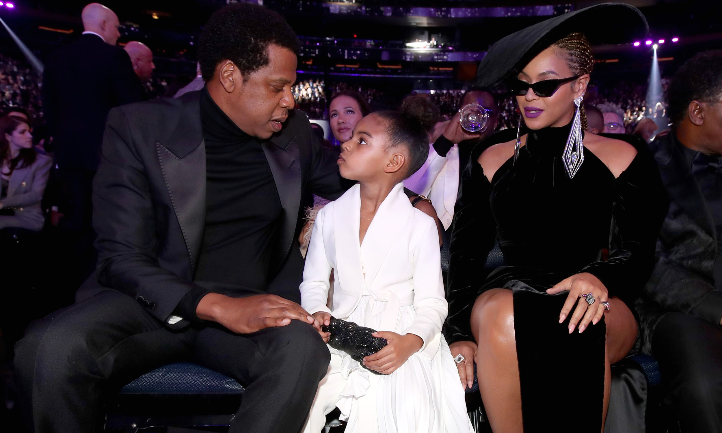Jay Z, Blue Ivy and Beyonce at the 2018 Grammy Awards. Best Dressed (Most Stylish) Men on the Red Carpet. Grammys 2018: The Best Dressed Men.