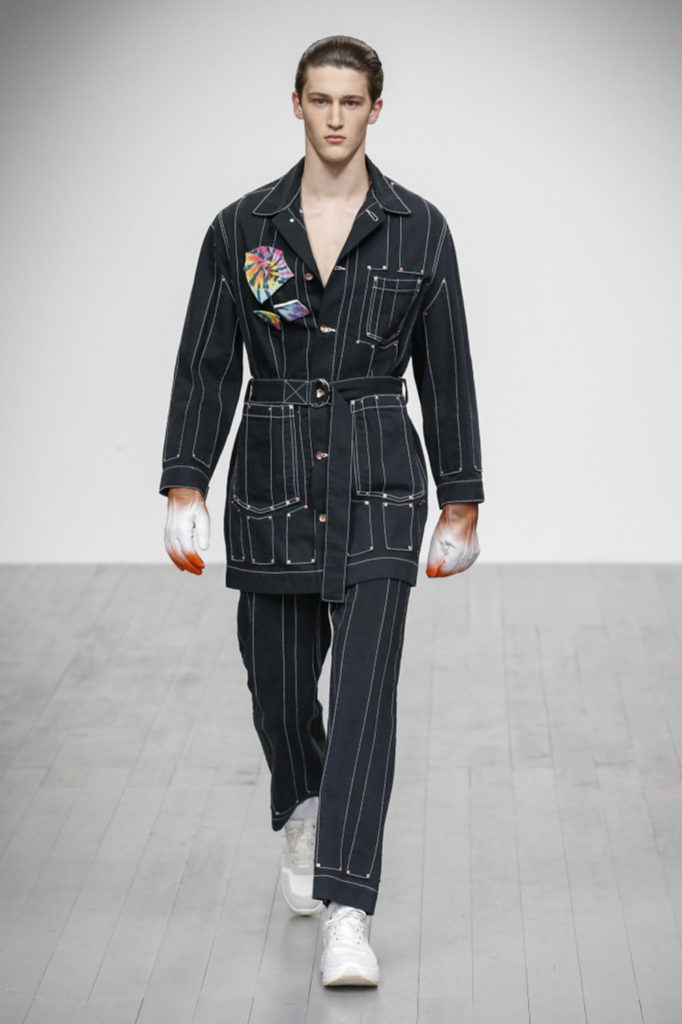 Alex Mullins London Fashion Week Men's Fall Winter 2018 - Sagaboi - Look 12