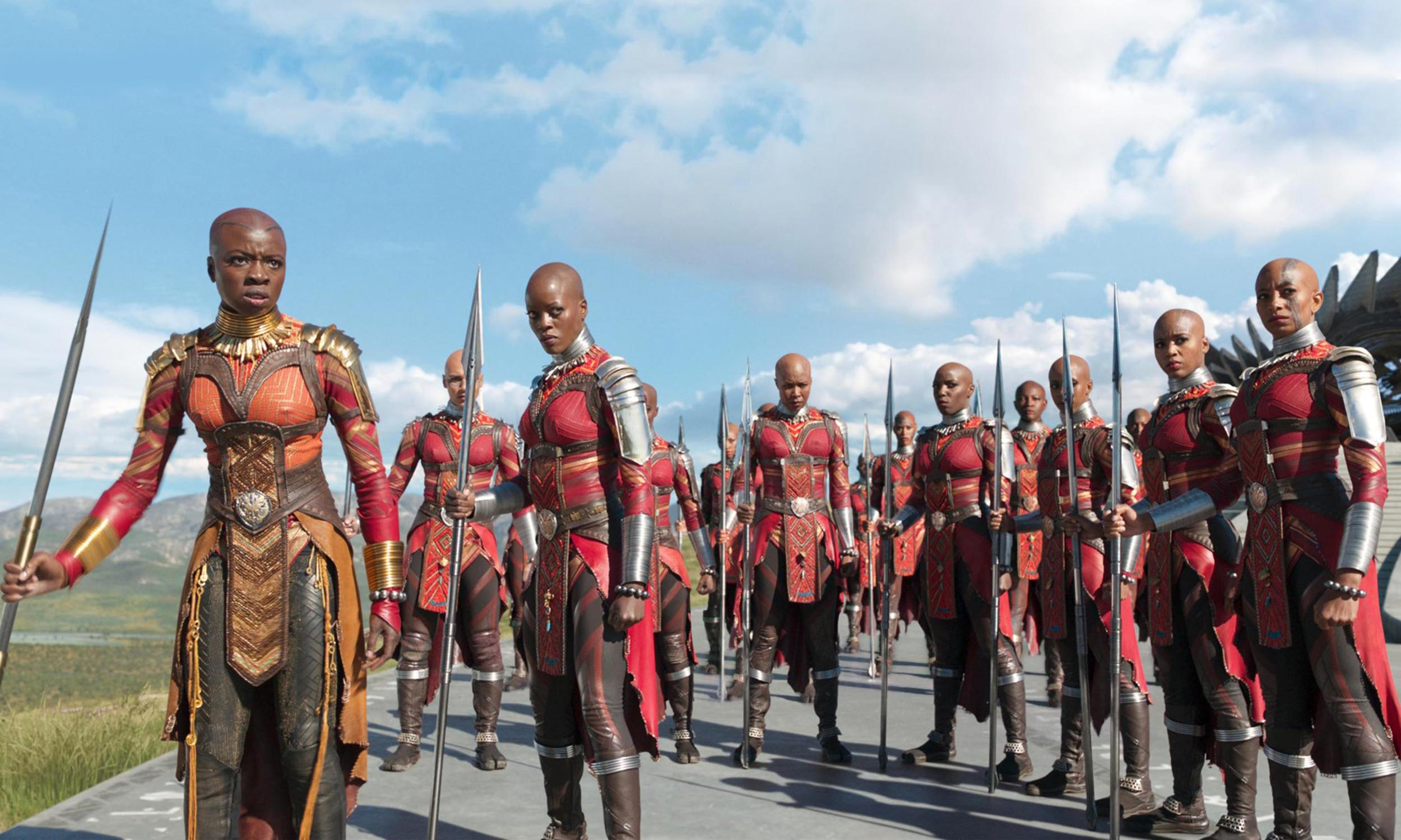 Black Panther - Scene from Marvel Studios Black Panther - Dora Milaje lead by Okoye - Danai Gurira. #WakandaForever, #WhatBlackPantherMeansToYou