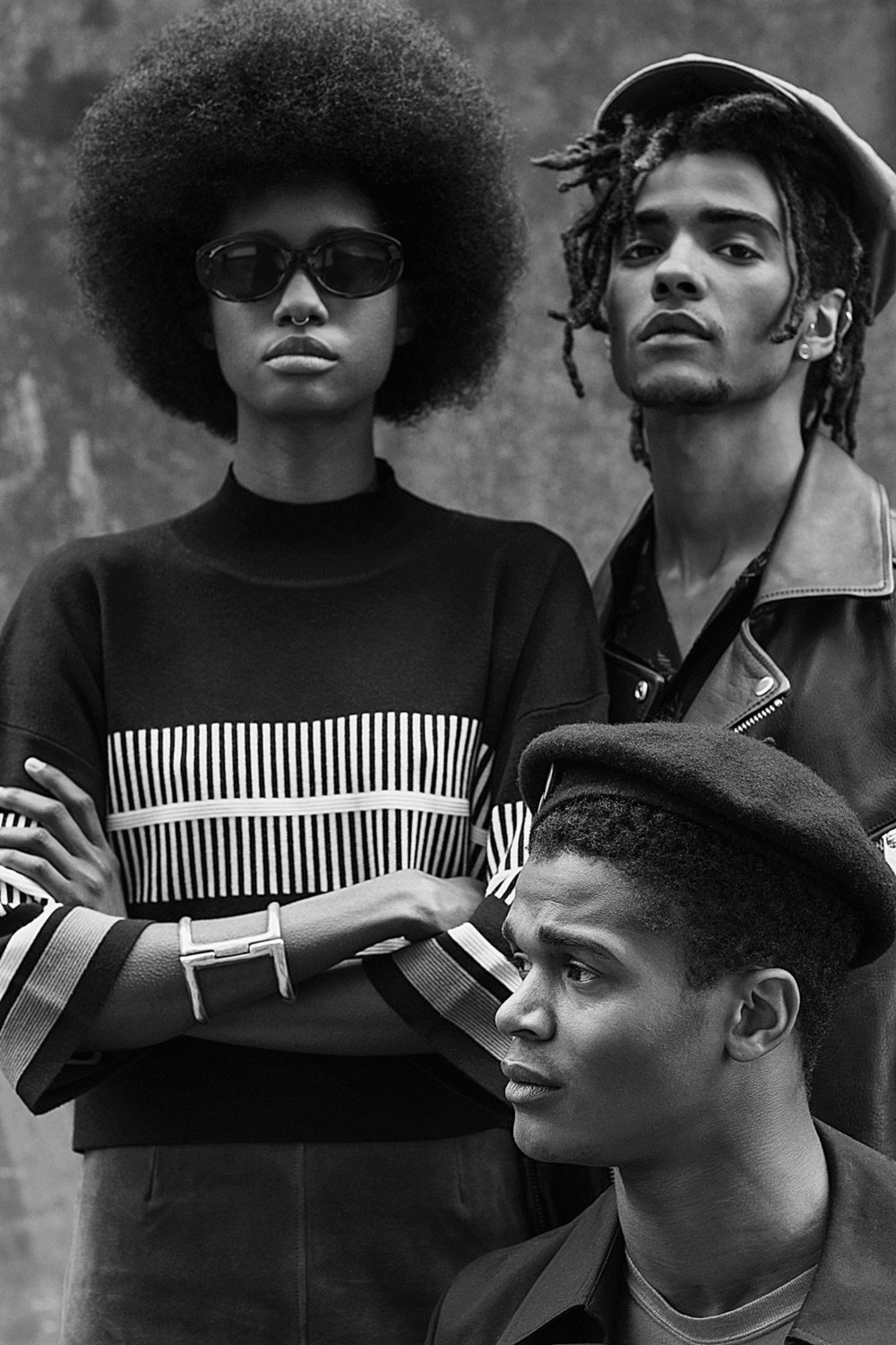 Crystal Noreiga, O'Shea Robertson, and Marcus Sivyer photographed by Adam Fussell and styled by Geoff K. Cooper and Kieron Watts. Casting by Marqee Miller. Sagaboi Book - Come Through.