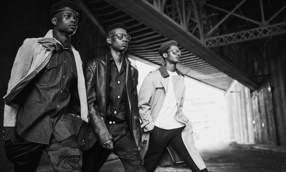 King Mbye, George Koh and O'Shea Robertson photographed by Adam Fussell and styled by Geoff K. Cooper and Kieron Watts. Casting Marqee Miller. Sagaboi Book -Volume One - Come Through. 2018