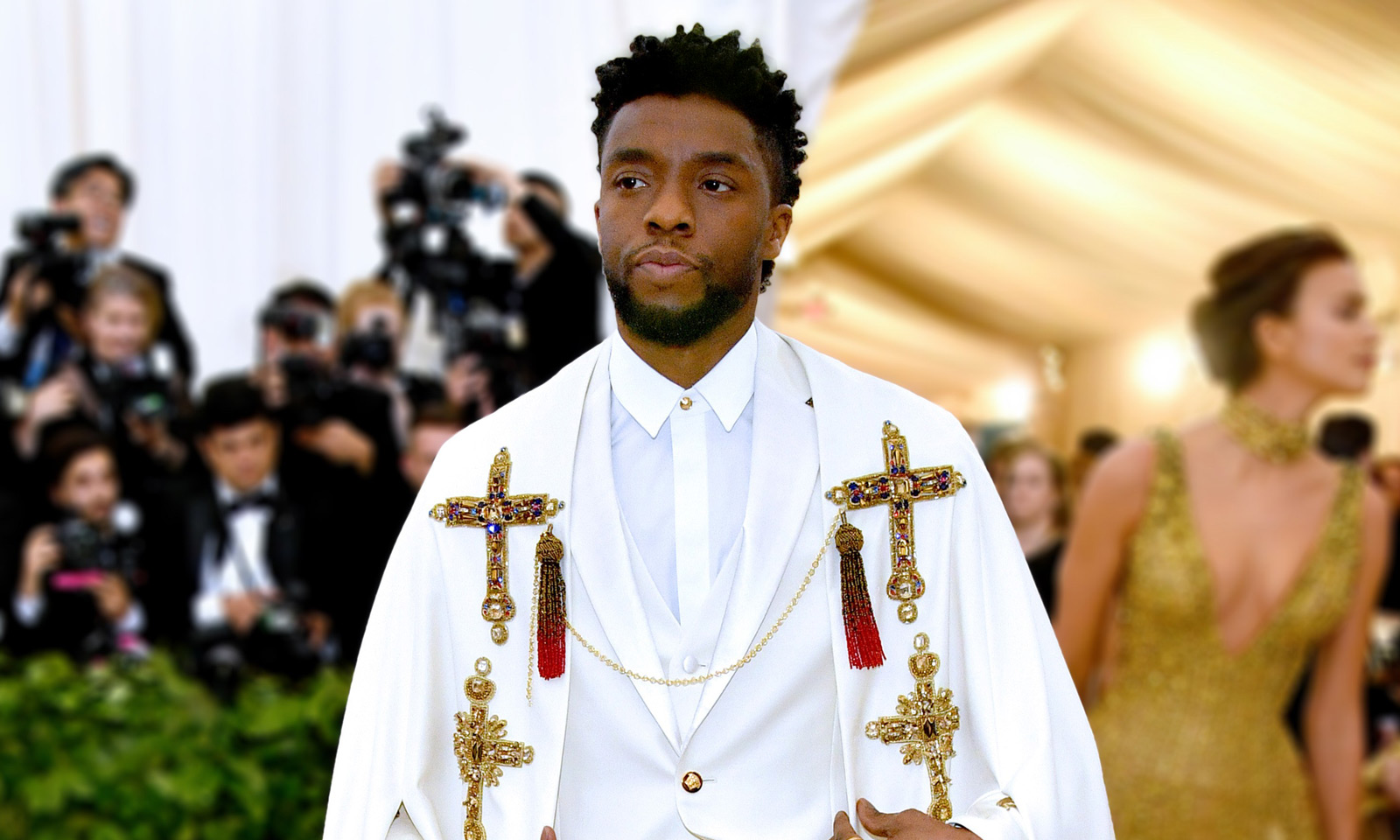 Chadwick Boseman attends the 2018 Met Gala in New York