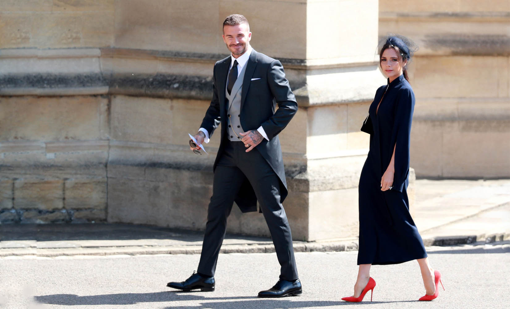 David Bechkam Shined In Dior Homme at The Royal Wedding 55bdad0ce8c