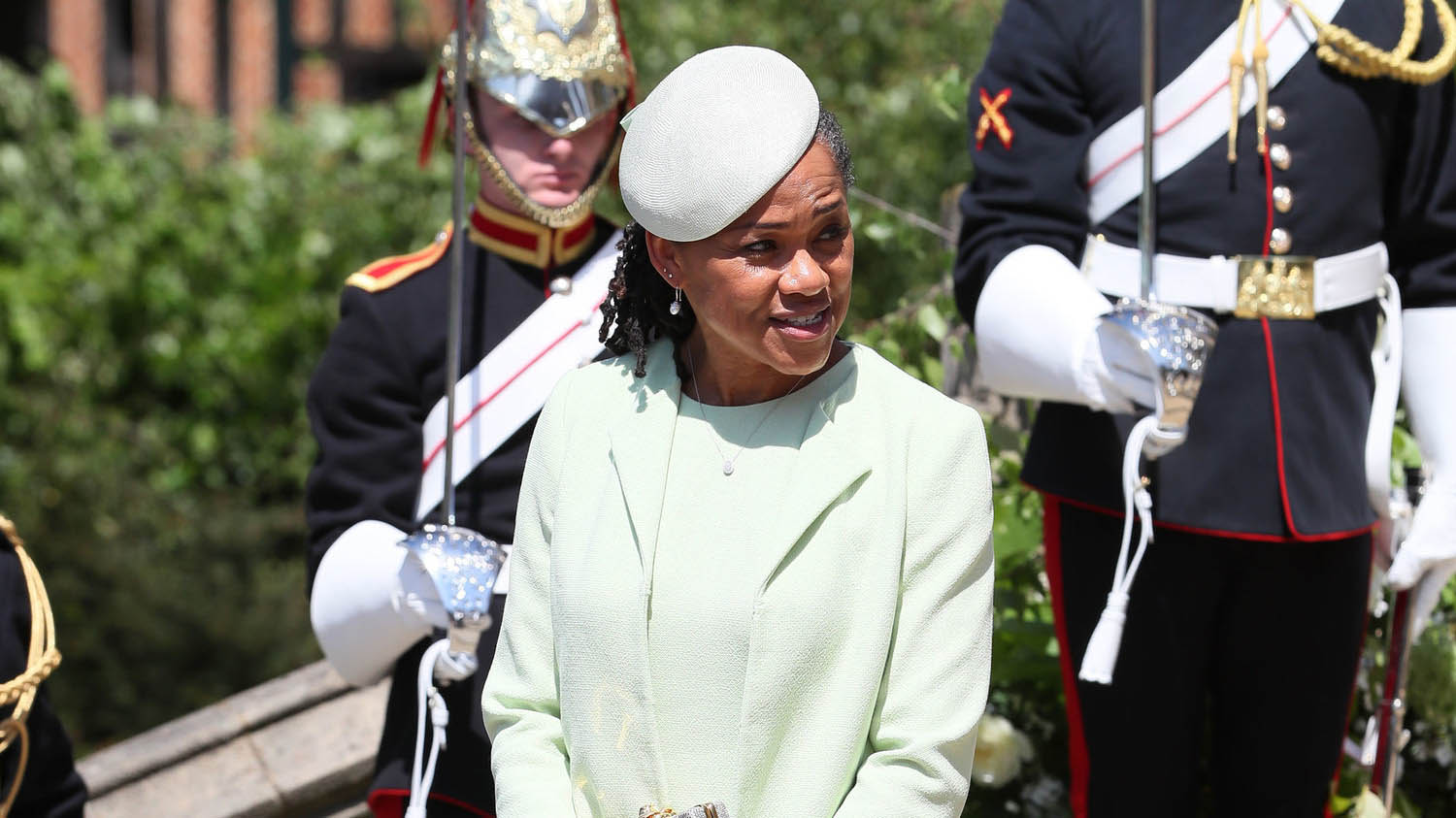 Doria Ragland leaves St George's Chapel at Windsor Castle after the wedding of Prince Harry, Duke of Sussex and Meghan Markle on May 19, 2018 in Windsor, England. (Photo by Brian Lawless - WPA Pool/Getty Images)