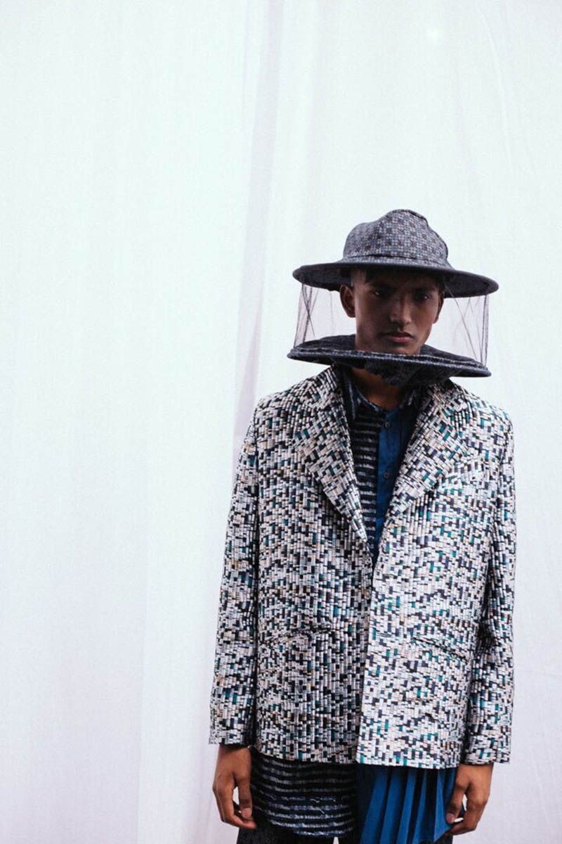 Men's hat at Christopher Genner SS19 show. Sagaboi's top 10 menswear designers at Graduate Fashion Week. Photography by Jade Berry