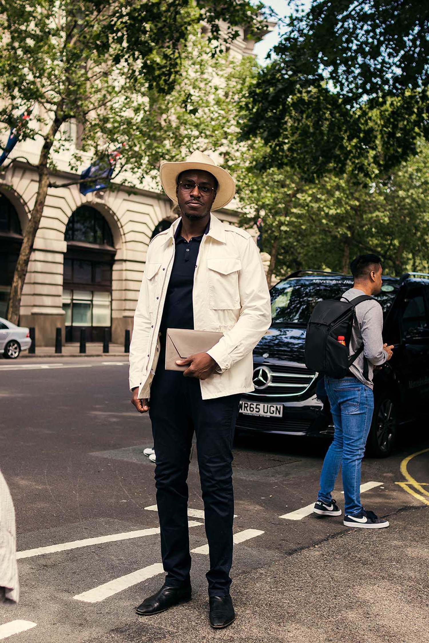 London Fashion Week Men's (LFWM Street Style by Olajide (JJ) Smith (Spotted By Mr. Smith for Sagaboi. Diversity in Street Style. London Fashion Week Men's (LFWM Street Style by Olajide (JJ) Smith (Spotted By Mr. Smith for Sagaboi. Diversity in Street Style. Representation in stock imagery.