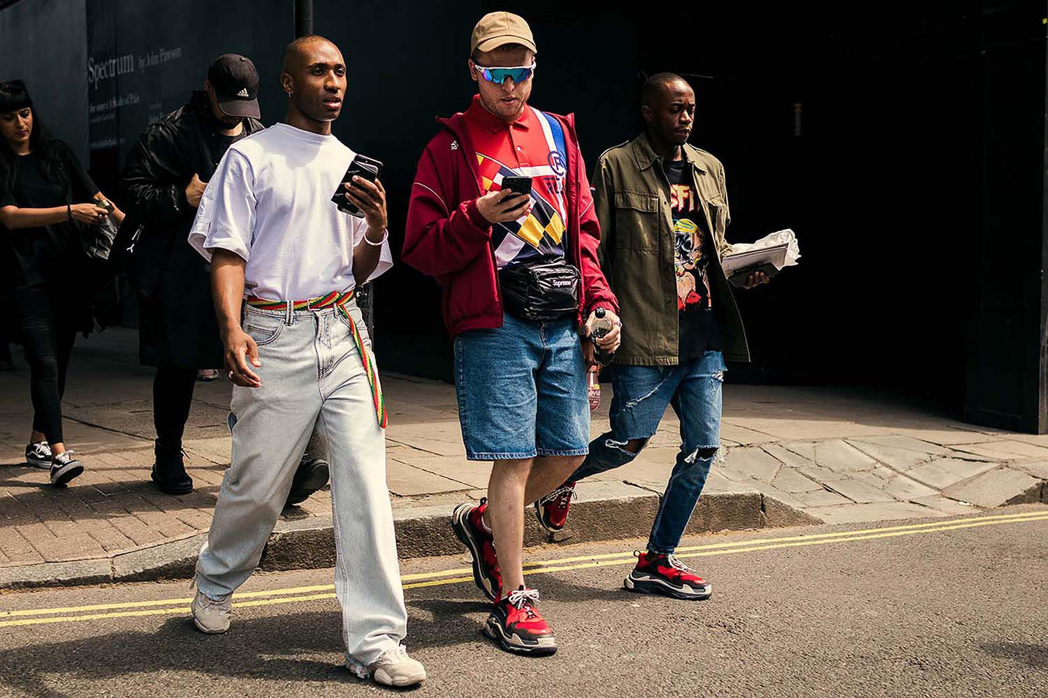 Group of stylish men (Adam James) photograohed at London Fashion Week Men's (LFWM Street Style by Olajide (JJ) Smith (Spotted By Mr. Smith for Sagaboi. Diversity in Street Style. London Fashion Week Men's (LFWM Street Style by Olajide (JJ) Smith (Spotted By Mr. Smith for Sagaboi. Diversity in Street Style. Representation in stock imagery.